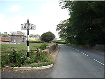 SD5871 : Old road sign for Arkholme by JThomas