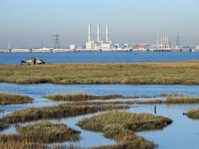 The northern edge of Chetney Marshes and the River Medway (3)