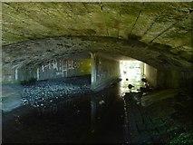NS4077 : The Murroch Burn flowing under a bridge by Lairich Rig