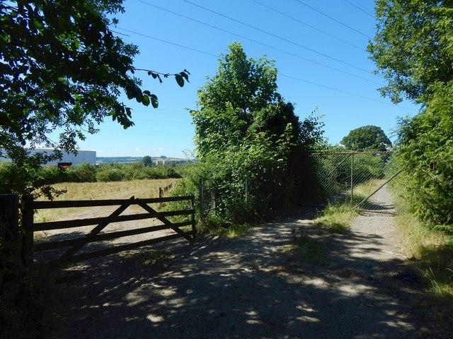 Gate on a path at Kilmalid