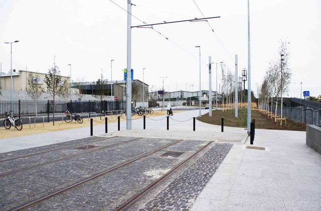 End of LUAS tramway at Broombridge, Dublin