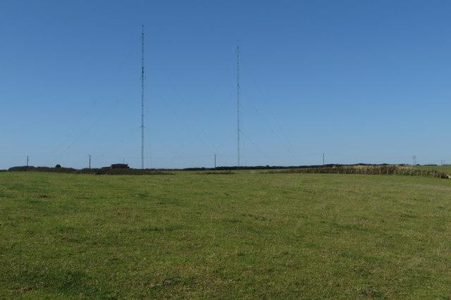 Medium wave radio transmitter masts