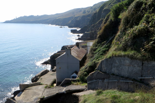 Remains of the village of Hallsands washed away in 1917
