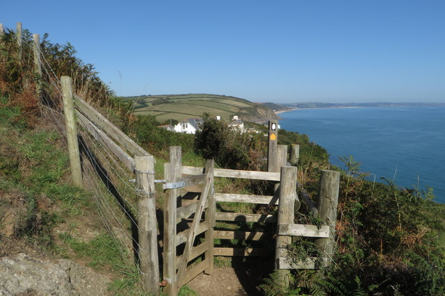 Gate on the South West Coast Path