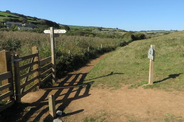 South West Coast Path & permissive path
