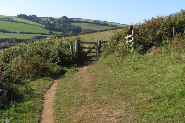 South West Coast Path heading to Hallsands