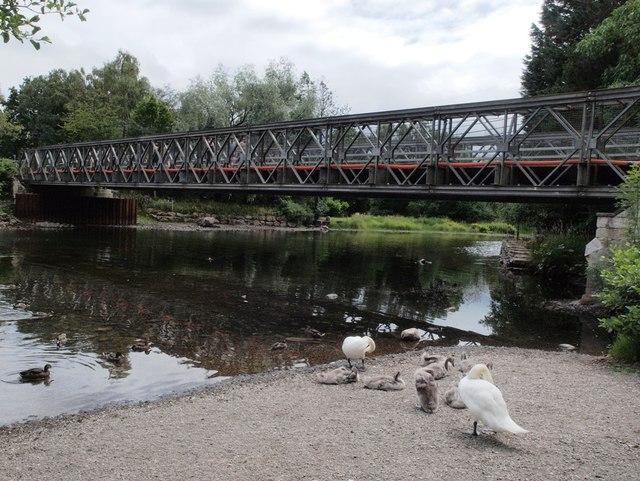 Temporary Bridge river Eamont