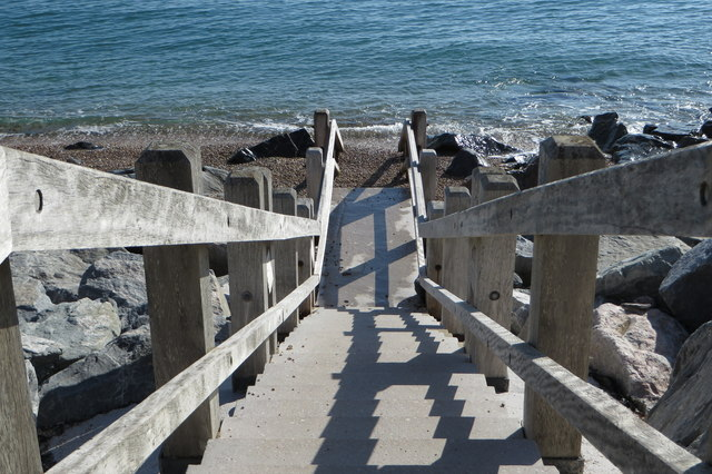 Steps into the beach