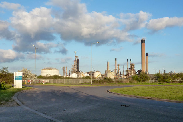 Disused Coryton refinery, 2015