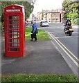 SO2914 : Grade II listed red phonebox, Tudor Street, Abergavenny by Jaggery