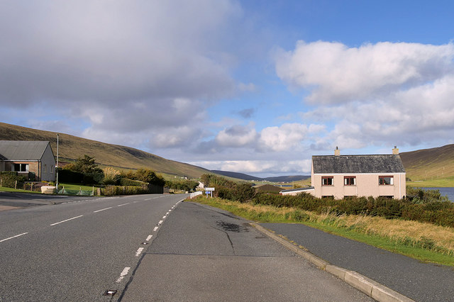 The A971 at Kalliness