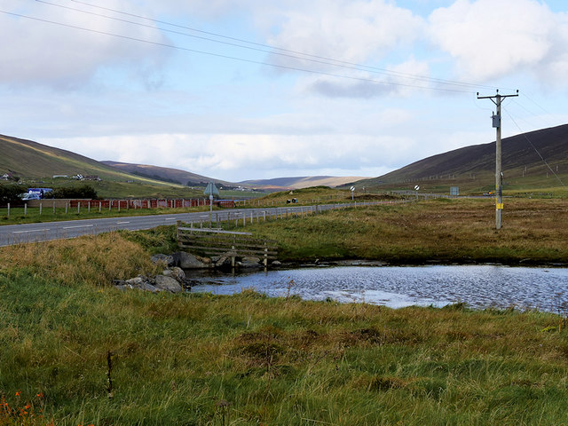 A971 and the Loch of Hellister