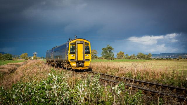 Inverness bound 158705 near Kildun