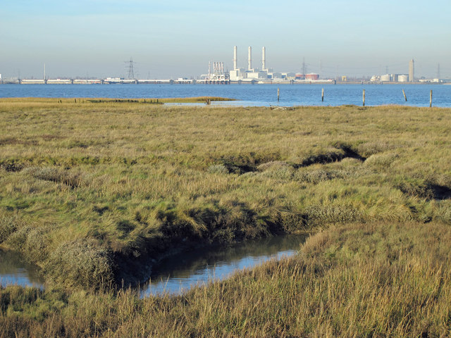 The northern edge of Chetney Marshes and the River Medway (5)