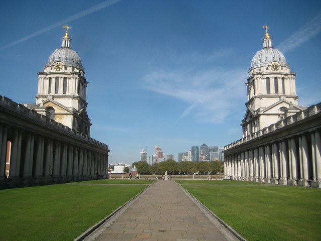 Greenwich: Old Royal Naval College: King William & Queen Mary's Quarter Domes