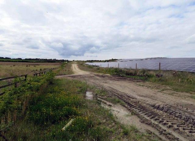 Track passes Asfordby Solar Farm B