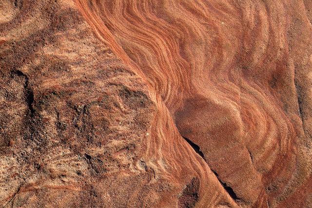 Sandstone rock at Pease Sands
