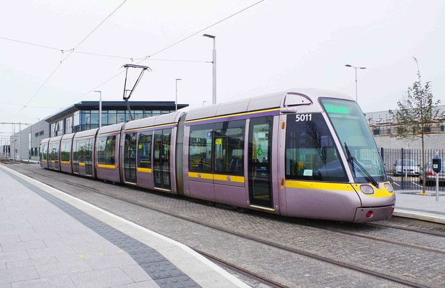LUAS tram no. 5011 at Broombridge Tram Stop (2), Dublin
