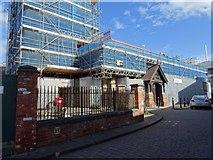SO8554 : St Helen's church under scaffolding by Philip Halling