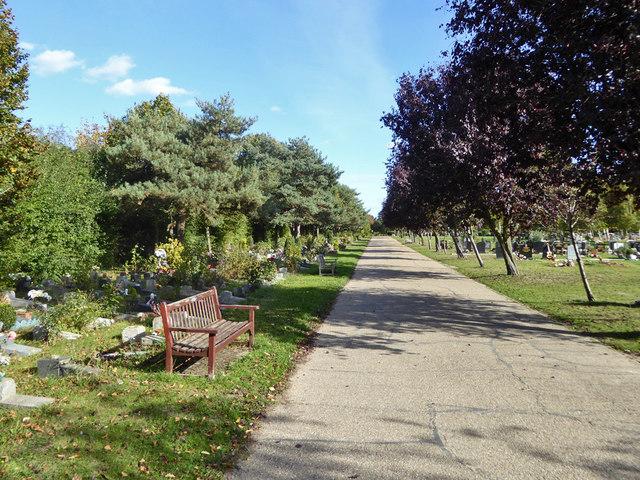 Road in Sutton Road Cemetery