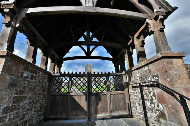 St. Giles in the Wood: Lychgate to St. Giles Church