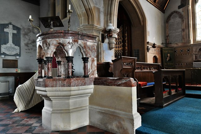 St. Giles in the Wood, St. Giles Church: The pulpit
