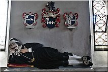 SS5318 : St. Giles in the Wood, St. Giles Church: Effigy of Thomas Chafe in the south aisle (1585-1648) 1 by Michael Garlick