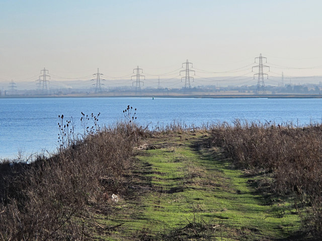 The eastern edge of Tailness Marshes and The Swale