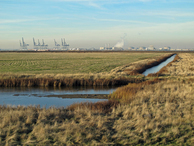Drainage channels on Tailness Marshes