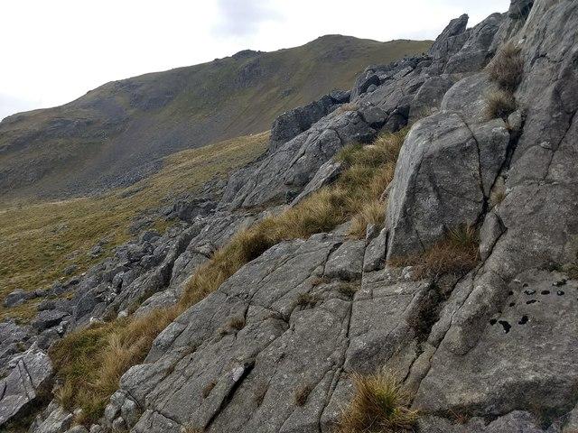 Rocks below Arenig Fawr