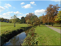 TQ2794 : Pymme's Brook in Oak Hill Park by Des Blenkinsopp