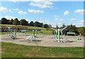 TQ2794 : Outdoor Gym, Oak Hill Park by Des Blenkinsopp