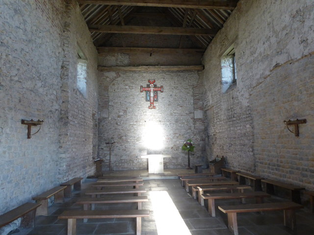 The interior of St Peter-on-the-Wall, Bradwell-on-Sea
