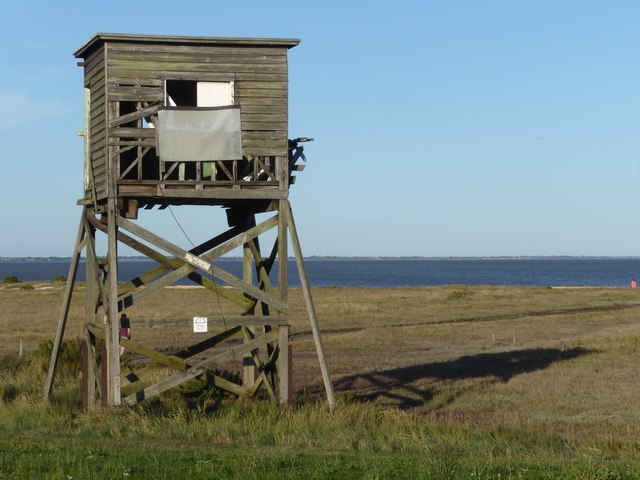 Ruined tower on the Essex coast at Bradwell-on-Sea