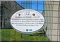 NT3598 : Sign on gate, Buckhaven by Bill Kasman