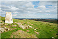 NY8070 : Trig point at Sewingshields Crags by Trevor Littlewood