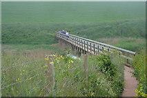 SX6741 : South West Coast Path crosses South Milton Ley by N Chadwick