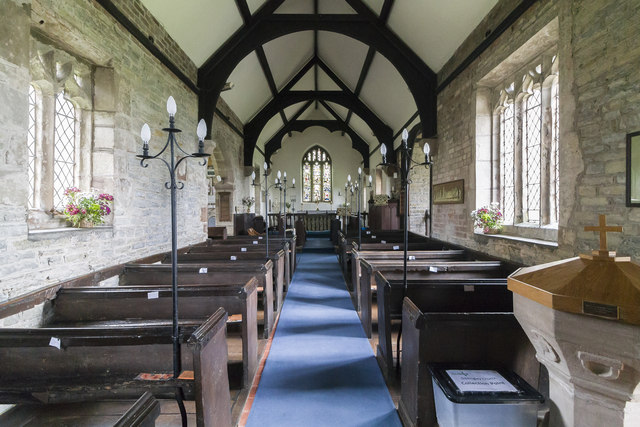 Interior, St James' church, Oddingley