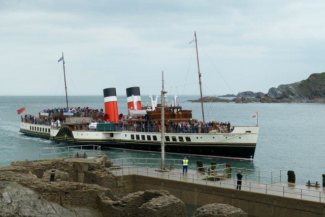 The Waverley at Ilfracombe on 01 September 2018