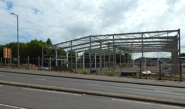 Renfrew Road Retail Park under construction