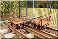 SJ3148 : Derelict colliery trucks by Richard Hoare