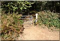 SU8137 : Gate on the Shipwright's Way footpath by John P Reeves