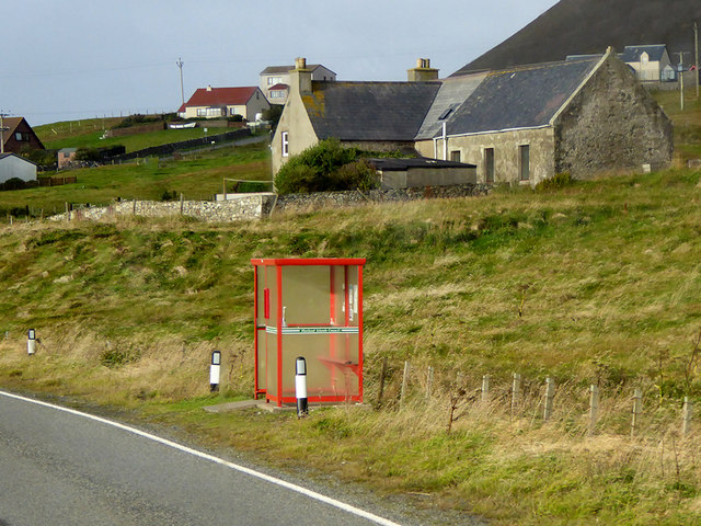 Bus Stop on the A970 at Quarff