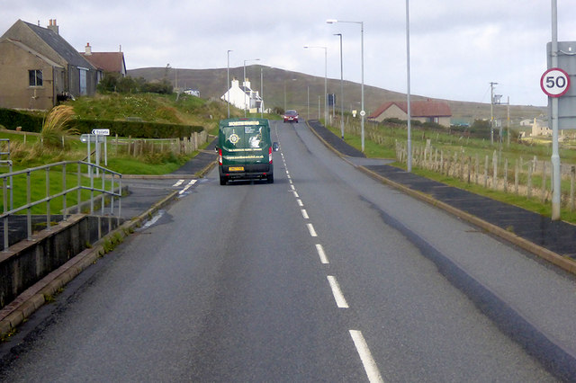 A970 at Cunningsburgh