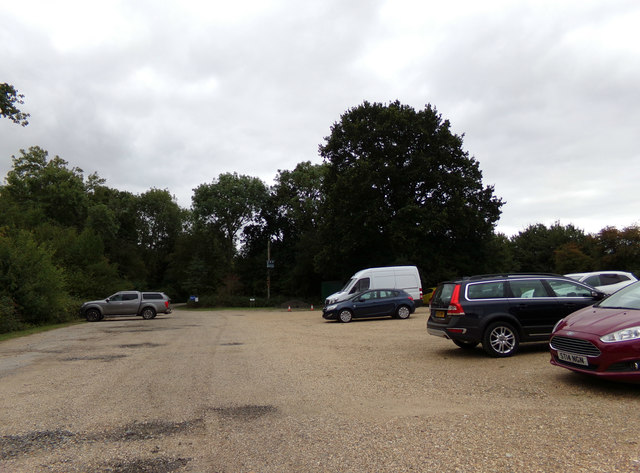 Exit of the Visitors Car Park at Marks Hall