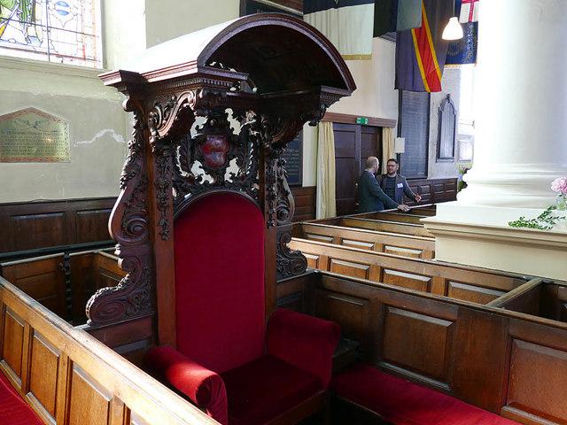 Church of SS Peter & Paul - Mayor's seat
