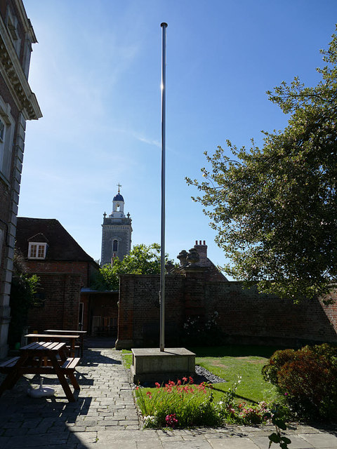 British Legion flagpole, Blandford Forum