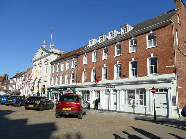 NatWest and Spar, Market Place, Blandford Forum