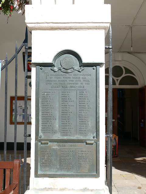 Blandford Forum war memorial - A to H