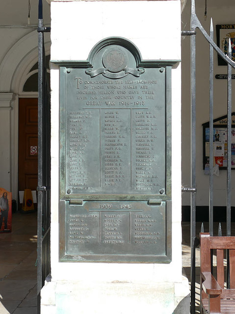 Blandford Forum war memorial -  H to W